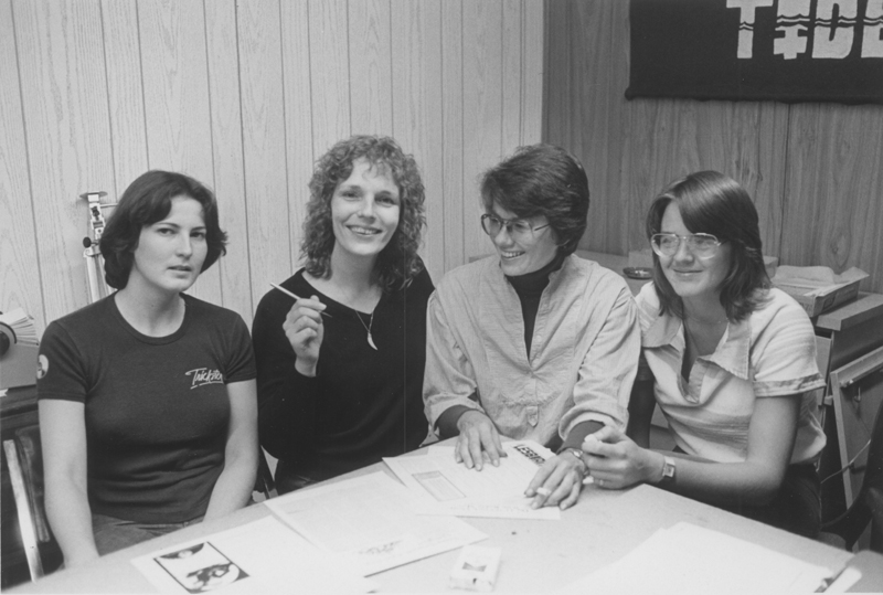 Staff of the Lesbian Tide. Circa 1977-1979.