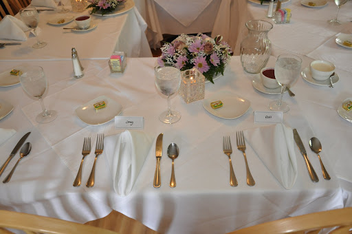 The couple's place setting.