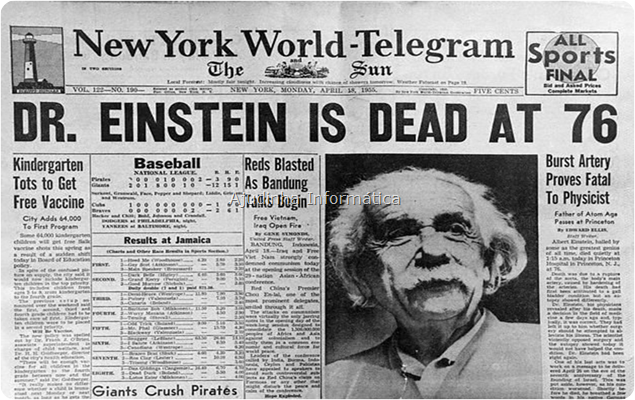 Morte de Albert Einstein