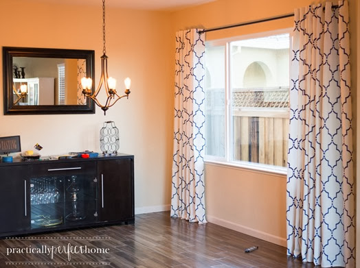 stenciled curtains tutorial