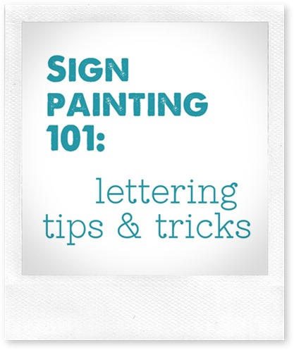 sign painting 101  lettering