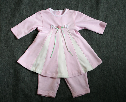 Burda 12-2006-141: Baby dress w/pants (french terry)