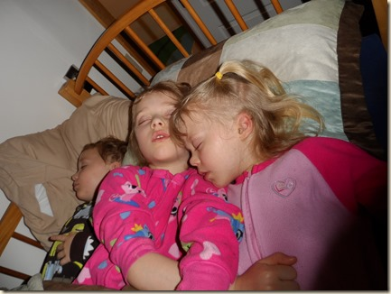 4-13 cabin kids sleeping together 1