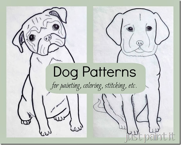 Dog Patterns–Pug and Lab Puppy