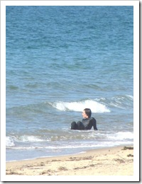 3.22.2012 Herring Cove girl in water w wet suit