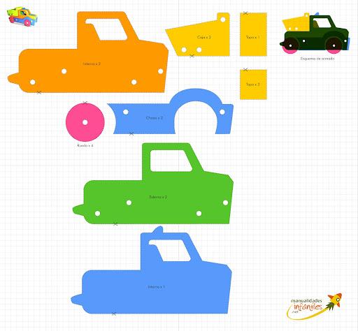 Como hacer un carro de carton moldes - Imagui