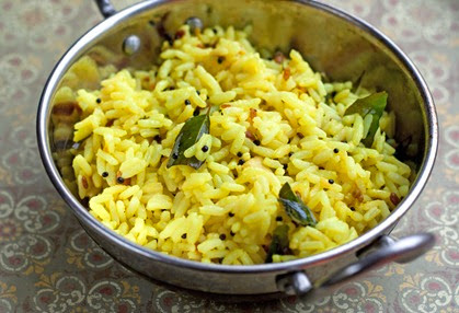 Serving South Indian Lemon Rice