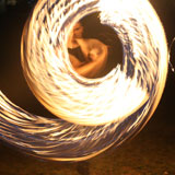 Fire twirling at Orleigh Park