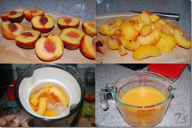Peach juice process