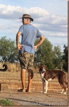 Mike and Lassie surveying the area