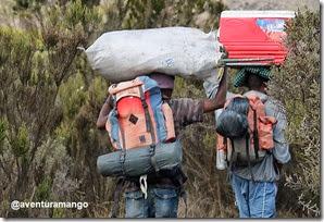 Carregadores na subida ao Kilimanjaro 2