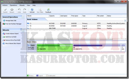 Partition Manager Gratis untuk Windows