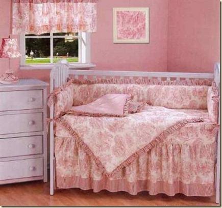 decoracion de dormitorio de bebe niña--