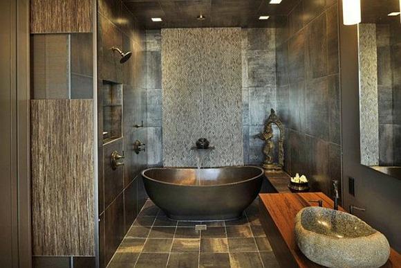 Baño de decoración asiática