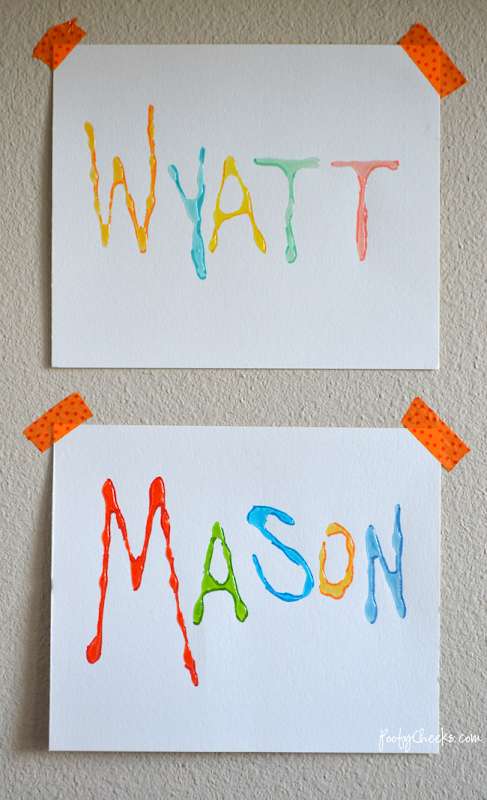 Glossy Marker Art -- Kid Craft