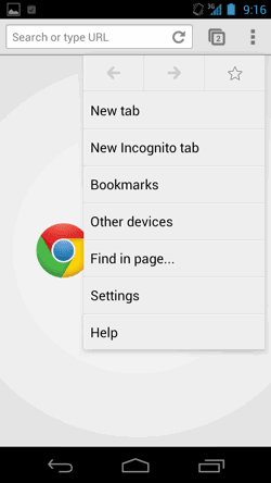 Chrome Beta Android 4-06