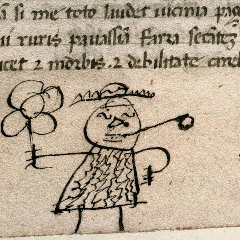 Historian Discovers 800 Year Old Doodles in Old Books