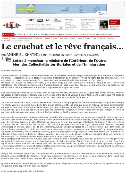 crachat français