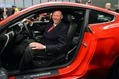 Ford CEO Alan Mulally presents the all-new Ford Mustang in Times Square, New York, Dec. 5, 2013
