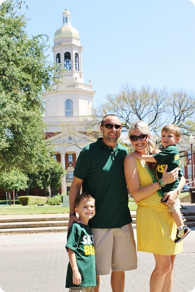 Nash's 1st day of School & Baylor Game 007