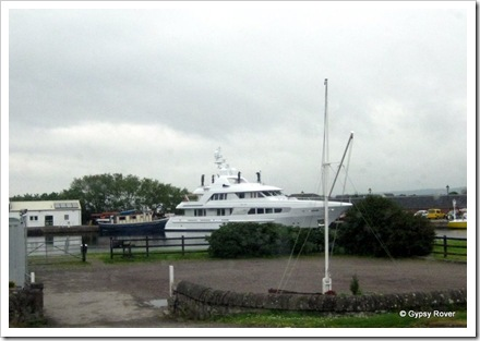 A very expensive Gin Palace moored at Inverness.