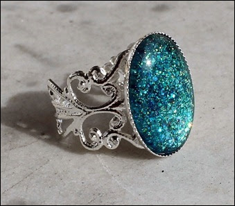 Karibik türkis Ring silber schnörkel 4