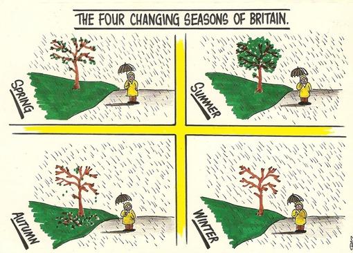 4 времени года в Британии