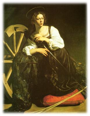 Caravaggio, Santa Catalina de Alejandría, h.1597