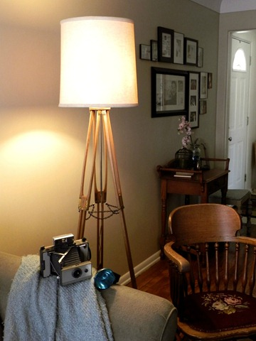 diy camera tripod floor lamp sepia1