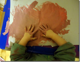 paint hands from above