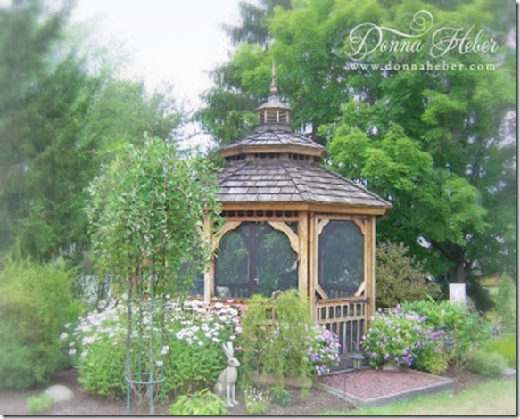 Gazebo with Daisies 7-24-12