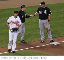 'Chris Tillman, Jeff Cox, Adam Dunn' photo (c) 2011, Keith Allison - license: http://creativecommons.org/licenses/by-sa/2.0/