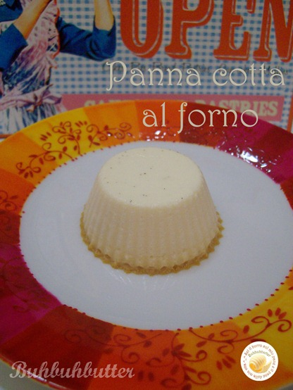 Panna cotta al forno