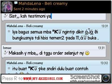 testimoni creamy