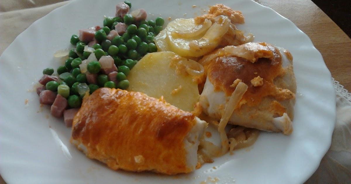 La marmita de julio merluza al horno con mayonesa de for Merluza al horno facil