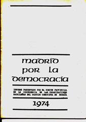 Madrid por la democracia 1974