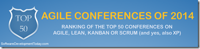 Top 50 Agile Conferences headline banner