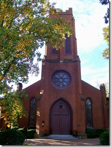 Trinity Church Tower in Staunton, VA