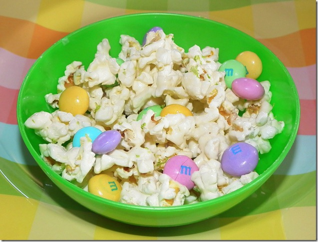 White Chocolate and Lime Popcorn