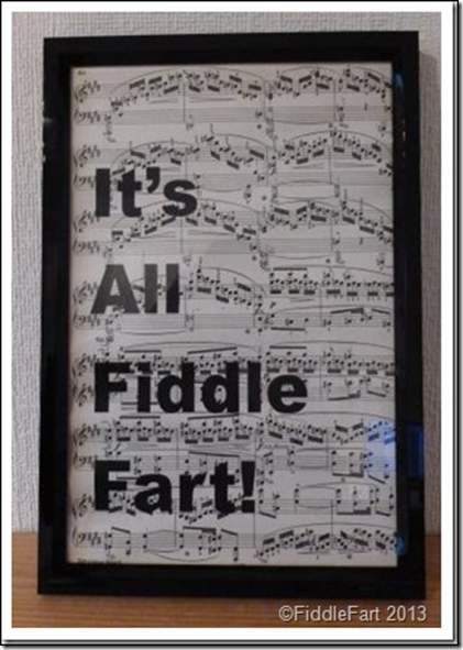 Framed word art Fiddle fart