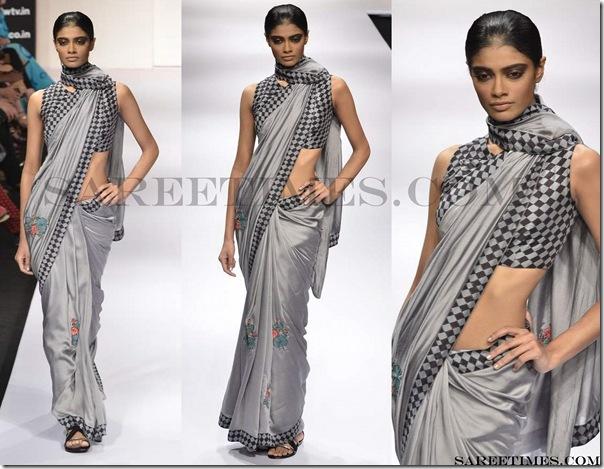 Vivek_Kumar_Grey_Designer_Saree