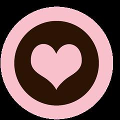 cupcake topper valentines day hjerte rosa brun omvendt