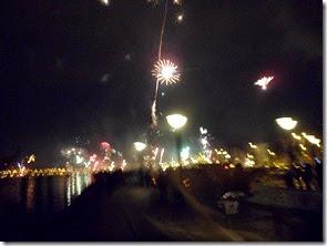 Neujahr am Hafen