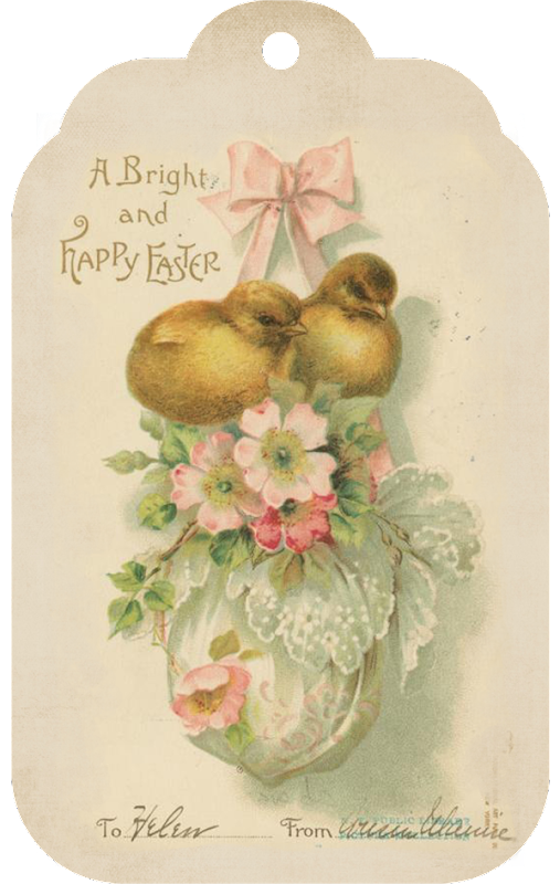 Shabby Art Boutique Vintage Easter Tag