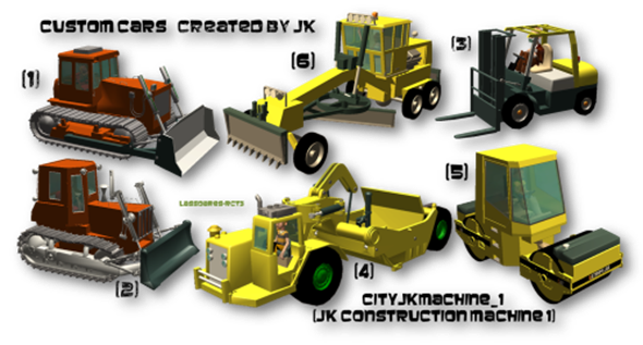 cityjkmachine_1  (JK Construction Machine 1) Custom Cars (JK) lassoares-rct3