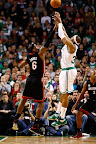 lebron james nba 130127 mia at bos 20 Boston Outlasts Miami in 2nd OT. LeBron Debuts Suede X PE!