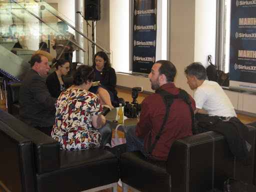 Guests enjoy their Craft cocktails in the SiriusXM lobby before the show starts.
