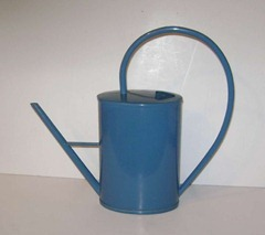 Ingrid blue plastic watering can