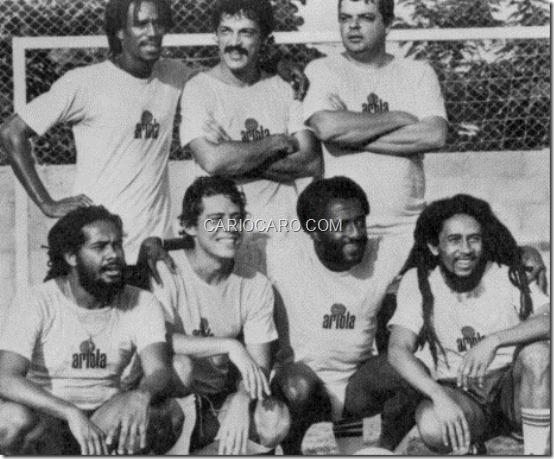 Junior Marvin, Toquinho, João Luiz de Albuquerque Abaixo Jacob Miller, Chico Buarque, Paulo César Caju e Bob Marley