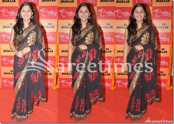 Black_Embellished_Georgette_Saree